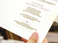 Letterpress Wedding Invite - proof