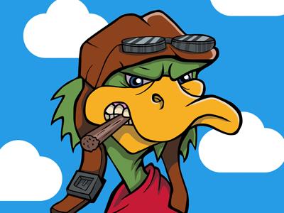 Back Off! We're Migrating duck migrating cartoon