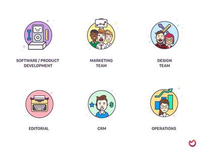 Ora.pm — solution icons illustration marketing icons app web workspace chat tracking time managment project task