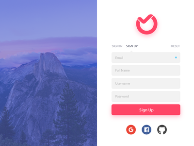 Ora Signup/Login Screen split productivity management task ora signin signup login