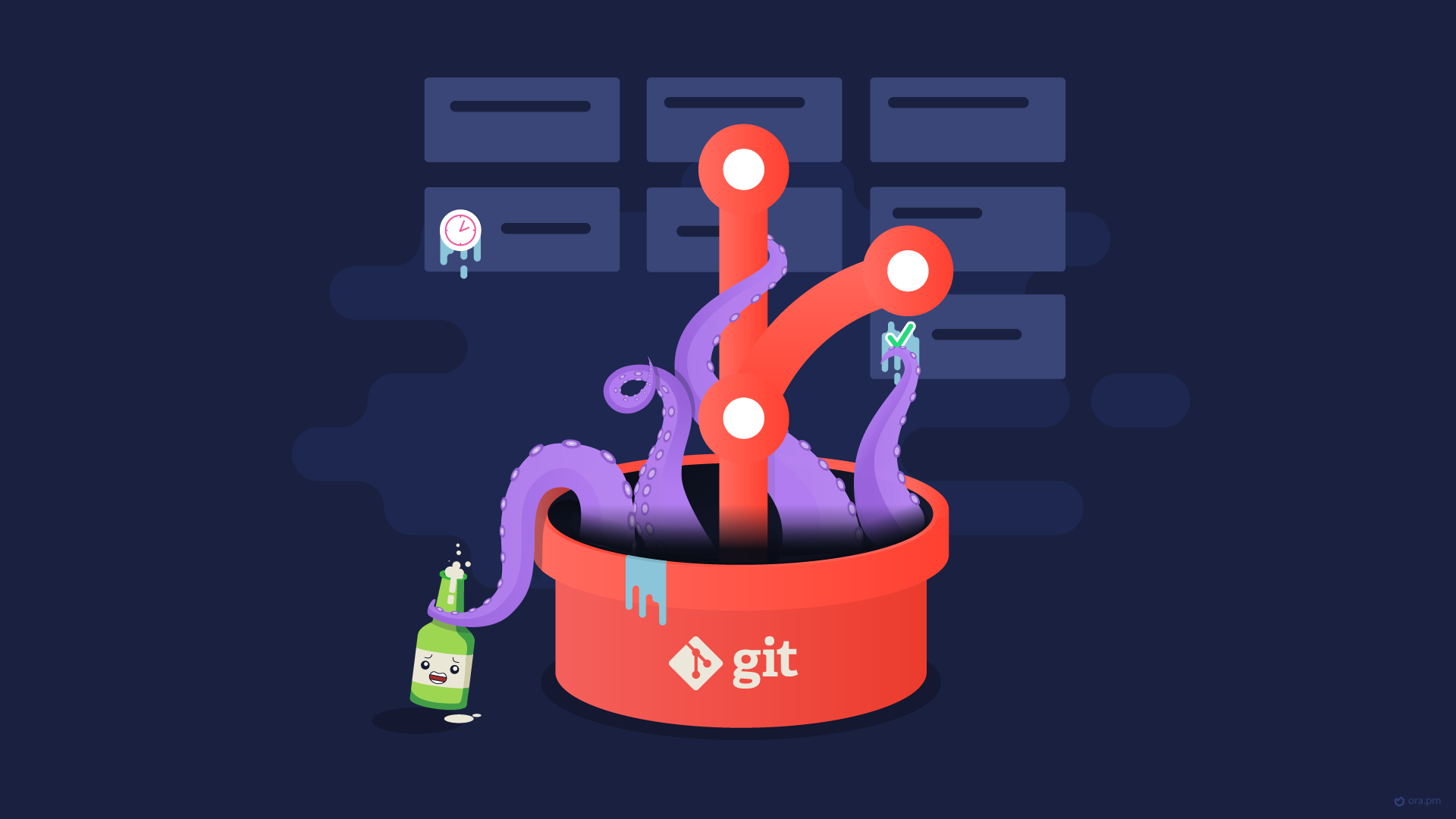 Git monster wallpaper