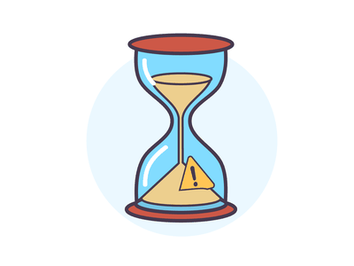 Limited Time productivity time management hourglass little limited illustration no time time