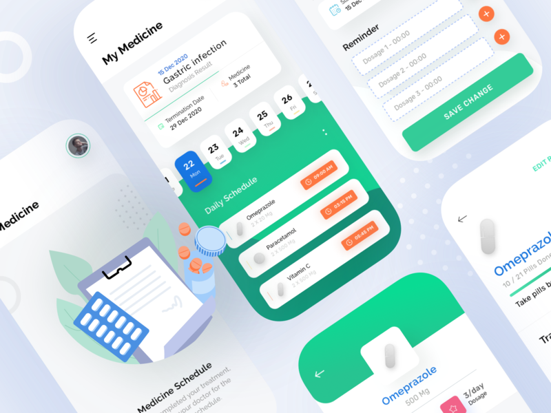 Medicine Category - SeHealty UI KIT - health app healthcare doctor health