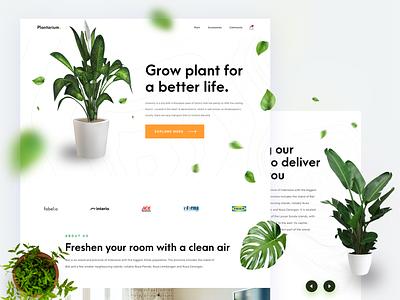 Plant Shop - ecommerce landing page web design ecommerce plant website