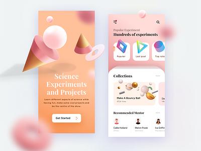Experiments   mobile app learning app learning learn illustration mobile app