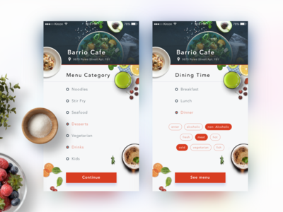 Dinning Category sketch search list meal drink eat restaurant order online mobile app order food ordering food