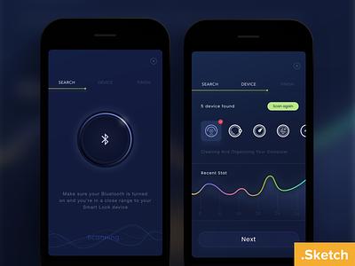 Freebie - Smart Device .sketch   sketch free search bluetooth ios dark device home smart freebies