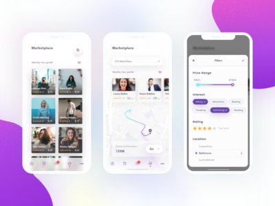 """""""TuTour"""" Marketplace rating location search map filter marketplace travelling travel tourism iphone x guide"""