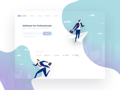 Easy Manage Landing Page illustration web business manage project management easy landing