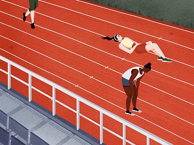 Running Track Illustration vector illustration vector deadlines run cycle runner run deadline texture colorful illustration art illustration