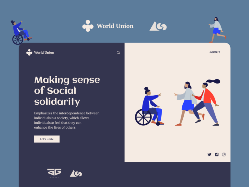 Landing page for World Union