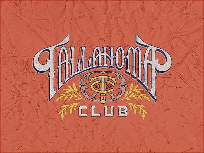 The Tallahoma Club ephemera brand design identity branding deep south mississippi cigar shop cigars lettering handlettering identity design identity
