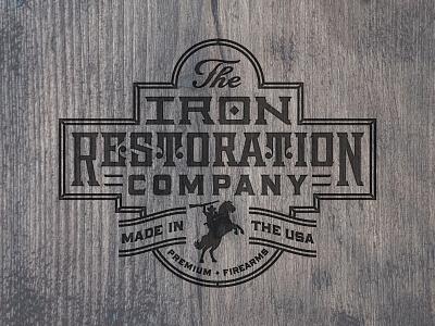 The Iron Restoration Co. texas vector design illustration branding badge brand lettering icon logo identity