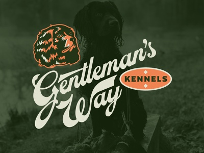 Gentleman's Way Kennels Identity outdoors hunting waterfowl spaniel boykin branding identity branding identity design