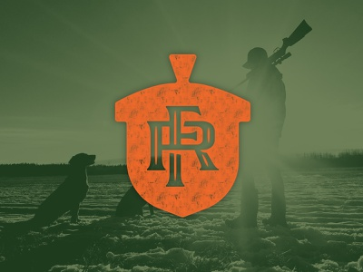 FR Monogram hand lettering handlettering lettering monogram logo design identity design identitydesign identity icon logo duck logo sports sporting outdoors duck camp waterfowl hunting