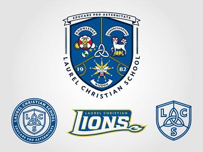 LCS athletic branding identity branding mississippi private school education identity system system logo identity identitydesign