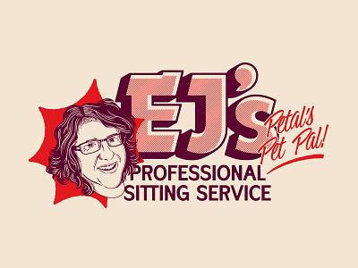 EJ's typography badge identity brand identity illustration