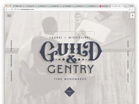 Guild & Gentry Landing Page