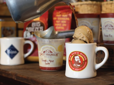Big Ben's Blend packaging deep south mug design gelato coffee brand laurel mercantile branding mississippi laurel