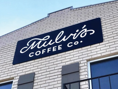 Mulvi's Coffee Co. deep south mississippi hattiesburg hand lettering lettering identity identity design logo sign painting coffee