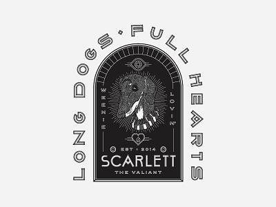 Scarlett 🐶 badge full hearts long dogs dachshund puppy