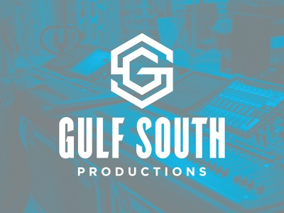 Gulf South Productions identity system production company production mississippi brand badge icon identity