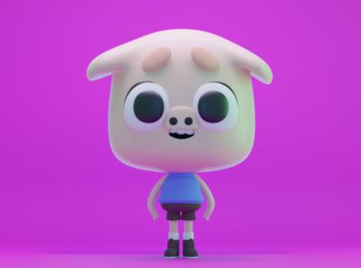 piggy character artist design blender3d logo modeling characterdesign 3d art blender