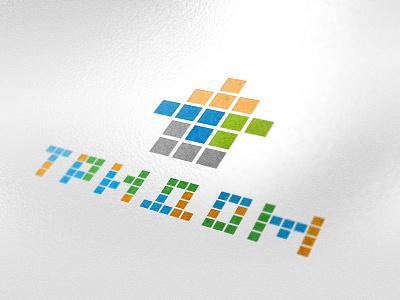 Tridom mutdiz design logo building tridom