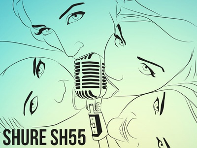 Shure SH55 mutdiz design vector girls best microphone sh55 shure