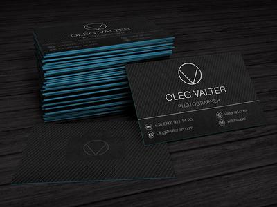 Oleg Valter mutdiz logo design bc business card nu photographer valter oleg