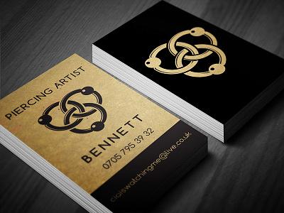 Piercing Artist mutdiz business card design sign piercing
