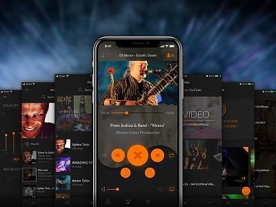 Silence Music App appstore ui mutdiz design equalizer youtube player player app music silence