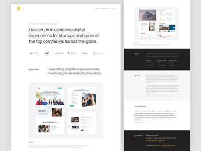 Personal Portfolio is Live web typography clean website experience interface design ux ui portfolio personal