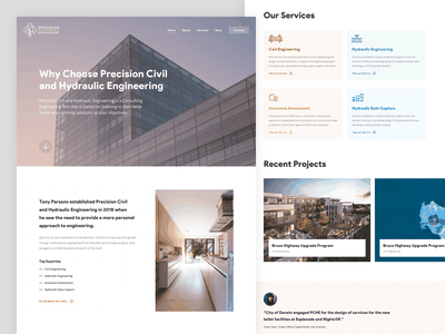 PCHE - Homepage Design icon redesign homepage civil engineering engineering real estate website experience interface clean design ux ui