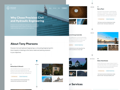 PCHE - About Page civil about engineering real estate ux design ui design web icon website interface clean design ux ui