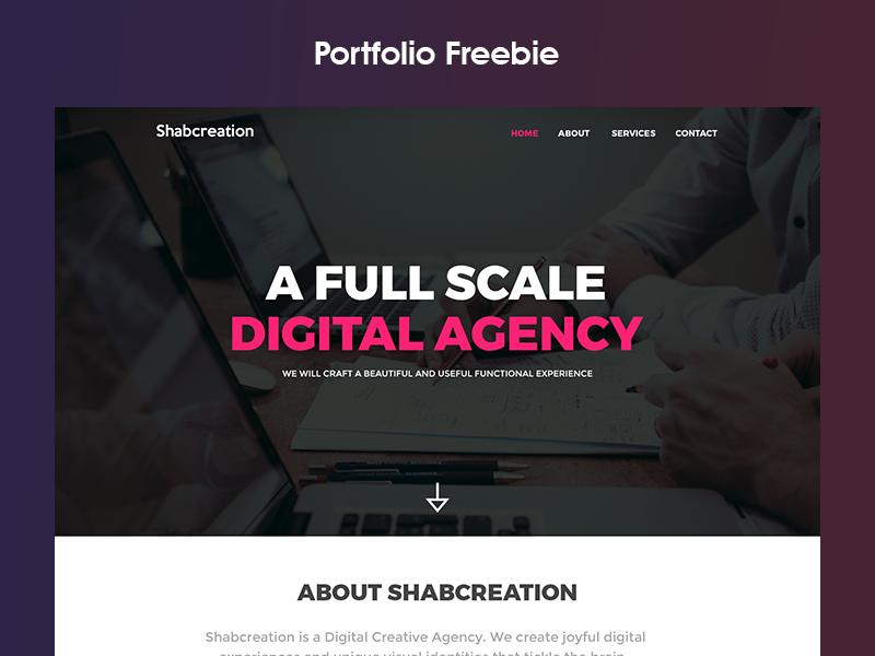 Portfolio Freebie free website templete work ux website ui self design free psd personal portfolio freebie