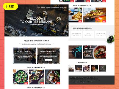 Freebie - Restaurant Website Template psd template ux ui website restaurant freebie