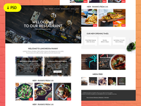 Freebie - Restaurant Website Template
