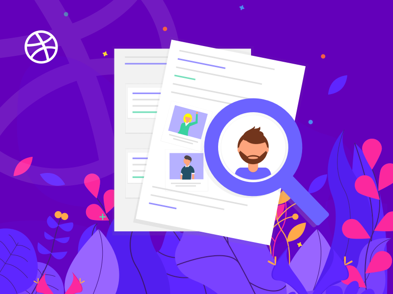 4 Dribbble Invites for Talented Designers! plants colors clean 4 invites invitaion designer design vector illustration dribbble invite giveaway dribbble invitation invite