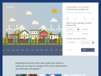 Solar Panel - Homepage Design