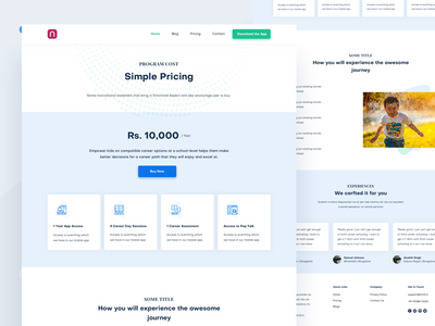 Pricing Page pricing page minimal flat typography career course education web design experience ux ui clean interface website webdesign