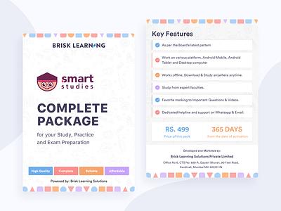 Smart Studies - Activation Packaging education visual brand identity print envelope packaging design design vector branding