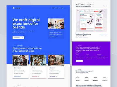 Babji Info - Website Design web design design agency experience blue website interface clean web design ux ui