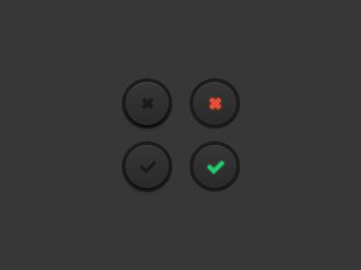 Check buttons button checkbox check depth smooth sketch