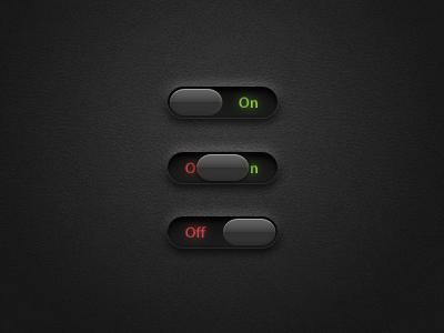 On/Off Sliders - Free PSD sliders on off toggle toggles slider light leather psd free