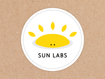 Sun Labs - Custom Label marketing branding carton stickers stickermule sticker sun