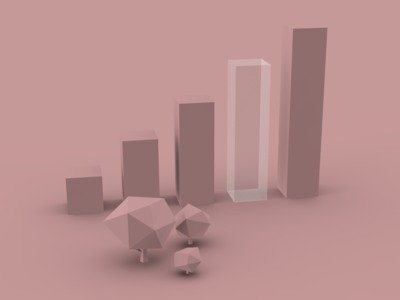 Millennial Ice design illustration pink chart bar trees 3d millenial normie