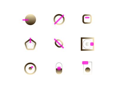 Golden Contrast branding figma vector design normie icon free