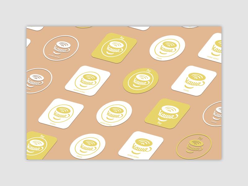 Brand Stickers - kawa brand design brand identity sticker uxdesign uidesign logodesign logo