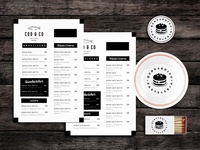 Table Tops Food Menu Template